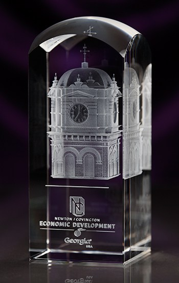 3D Crystal Dome Top Award