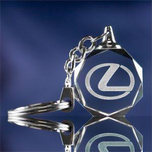 3D Crystal Keychain