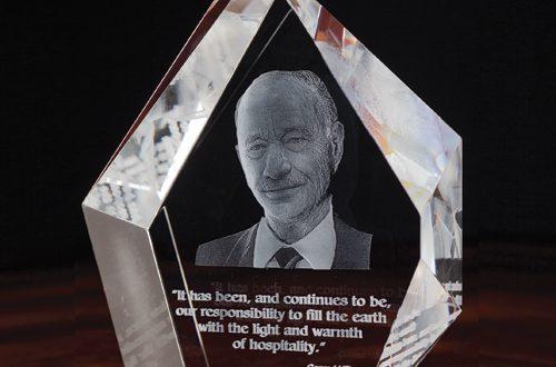 3D Crystal Prestige Award