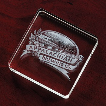Large Square Paperweight