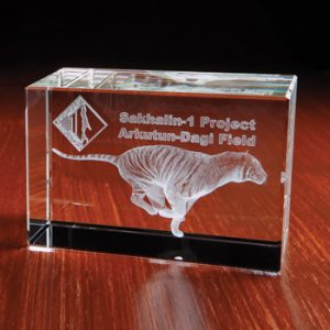 3D Crystal Rectangle Award