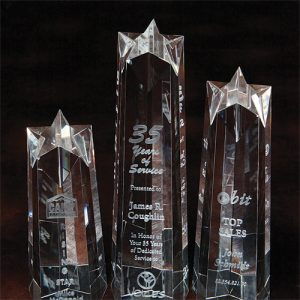 3D Crystal Star Tower Award