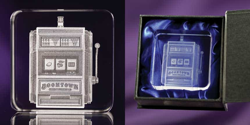 3D Crystal Paperweight