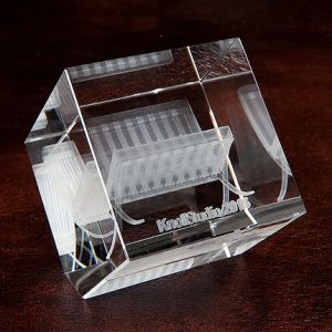 3D Crystal Edge Cut Cube