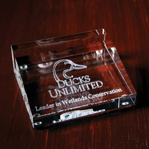 3D Crystal Business Card Holder