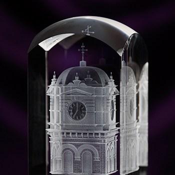 3D Crystal Dome Top Award